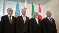İran, Türkiye, Azerbaycan ve Gürcistan'ın dışişleri bakanlarının ilk dörtlü oturumu düzenlendi