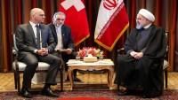 Ruhani, İsviçre Cumhurbaşkanı ile görüştü
