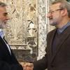 İran Meclis Başkanı, Filistin heyetiyle bir araya geldi