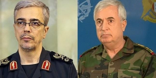 İran Genelkurmay Başkanı Tümgeneral Bakıri, Suriye Savunma Bakanı ile telefonla görüştü