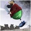 Karikatür: Siyonist Suudi Rejiminin Önderliğinde IŞİD Teröristleri Yemen'de Katliam Yapıyor