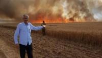 Filistinli Gençlerin Sınırın Diğer Yanına Gönderdiği Uçurtma Yangına Yol Açtı 