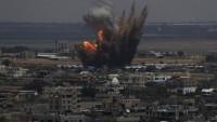 Siyonist İsrail, Kassam Tugaylarına ait mevziyi bombaladı