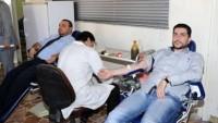 Suriyeli İşçiler, Suriye Ordusuna Kan Bağışında Bulundu