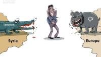Karikatür: Terör ve Avrupa canavarlarının arasında kalan insanlar…