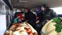 Keferya ve Fua Bölgesindeki 18 Yaralı Ve Hasta Lazkiye'de Hastanelere Taşınarak Tedavi Altına Alındı