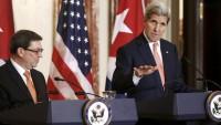 ABD ve Küba dışişleri bakanları ortak basın toplantısı düzenledi