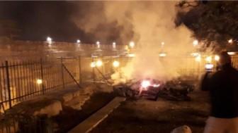 Yahudiler Mescid-i Aksa'daki El-Mervani Namazgahı'nda yangın çıkardı