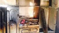 Kudüs'te Göz Yaşartıcı Bomba İsabet Eden Ev Yandı