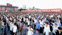 Kuzey Kore Halkı Sokaklara Dökülerek ABD'ye Meydan Okudu