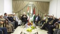 Sünni ve Şii alimlerin oluşturduğu Müslüman Alimler Birliği, Hamas'ın Lübnan bürosunu ziyaret etti