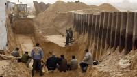 Siyonist rejim Mısır sınırında duvar inşa ediyor