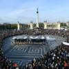 Macaristan yasa tasarısını protesto ediyor