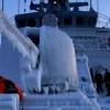 NATO Deniz Kuvvetleri donanmasına bağlı savaş gemileri buz tuttu