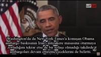 Video – Obama: İran'a ambargoları sürdürme gücümüz kalmamıştı