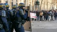 Paris'te polisle göstericiler çatıştı