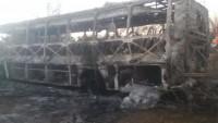 Zimbabve'de yolcu otobüsünde meydana gelen patlamada en az 42 kişi hayatını kaybetti