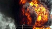 Suriye'de teröristlerin patlayıcı imal ettikleri atölyede büyük bir patlama gerçekleşti