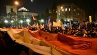 Polonya'da protesto gösterisi