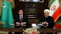 İran ve Türkmenistan cumhurbaşkanları ortak basın toplantısı düzenledi
