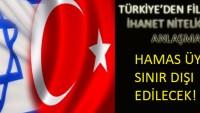 TÜRKİYE'DEN FİLİSTİN'E İHANET!