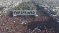 """Irak'ın başkenti Bağdat'ta Mukteda Sadr'ın çağrısıyla """"milyonluk protesto"""" başladı"""