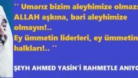 Şeyh Ahmed Yasin'i şehadetinin 12. yıl dönümünde rahmetle anıyoruz.