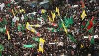 El-Halil'de Binlerce Kişi İşgalcinin Teslim Ettiği 17 Şehidi Uğurladı