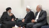 İran Cumhurbaşkanı Ruhani, Ayetullah Sistani'yi evinde ziyaret etti