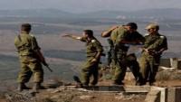 Siyonist İsrail ordusu, Suriye sınırında teyakkuza geçti