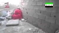 Video: Duvardan Seken Kurşun Teröristin Ağzını Deldi