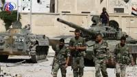 Suriye ordusu, teröristlerin Ebu Zuhur üssüne giden bağlantı noktasını kesti