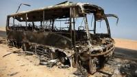 Suriye'de teröristleri taşıyan otobüste patlama; 45 ölü 20 yaralı
