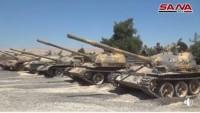 Terör'den Arındırılan Doğu Kalemun'da Teröristlere Ait Çok Sayıda Tank Ve Muhtelif Tür Ağır Silahlar Ele Geçirildi
