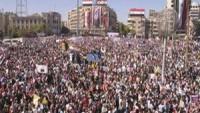 Suriye halkından orduya destek gösterisi