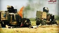 Yemen Hizbullahı Suudi Rejimine Ağır Darbeler Vuruyor: Onlarca İşgalci Öldürüldü, 3 Tank, 6 Zırhlı Araç İmha Edildi