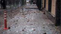 Moskova'da bulunan Türkiye Büyükelçiliği binasına taşlı saldırı
