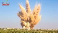 İdlib'in Al Fua beldesinde teröristler kazdıkları tüneli havaya uçurdu