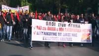 Yunanistan'da halk hükümeti protesto etti