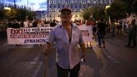 Yunanistan'da 3. kurtarma paketine karşı gösteri düzenlendi
