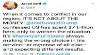 Cevad Zarif: ABD ve Siyonist rejim Batı Asya'daki istikrarsızlığın nedeni