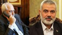 İran dışişleri bakanı Zarif, İsmail Heniyye ile telefonda ile görüştü