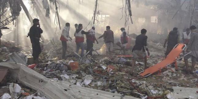 Foto: Suud Uçakları Sana'da Bir Aşiret Lideri İçin Düzenlenen Cenaze Merasimine Katılan Halkı Bombaladı. 540 Şehid Ve Yaralı