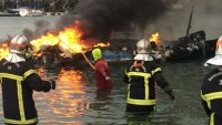 Fransa'da 22 tekne yandı