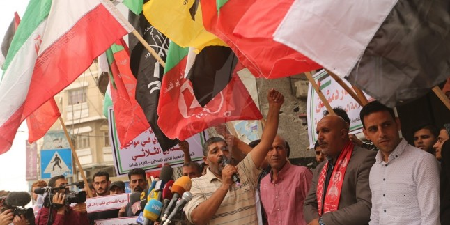 Foto: Gazze'de Suriye Ordusunun İsrail'e Attığı 70 Füze Kutlandı