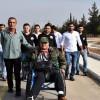 Savaş Gazisi Deyyub; Suriye Ordusuna Desteğini belirtmek için Hama'dan Şam'a tekerlekli sandalye ile yürüyecek