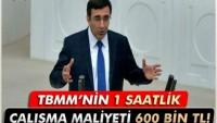 """Kalkınma Bakanı:""""Meclisin 1 Saatlik çalışma maliyeti 600 Bin TL"""