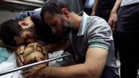 Gazze'de Bir Şehit Altı Yaralı