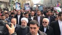22 Behmen Zafer Yürüyüşü Etkinliklerine Hasan Ruhani, Zarif Ve Salihi'de Katıldı