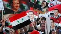 Suriyeli Dürzi Hıristiyanlardan Beşar Esad Yönetimine Destek Gösterisi